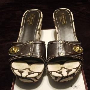 Coach wedge sandal